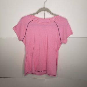 Avia Pink Short Sleeve Athletic Top Size M